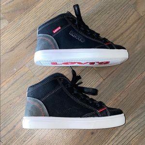 Levi's hightop sneakers. Boys size 13